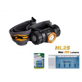 hl25 + Incluye  Cargador CRG-500 + 4 baterias AAA 1100 mAh